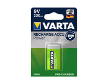 Batteri 0,17Ah/9V - Block <br />Elektronik - Genopladelig
