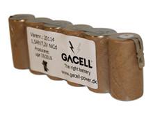 Batteripakke 1,5Ah/7,2V <br />