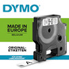 Tape cassette DYMO D1 12mmx7m black/white 45013