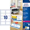 Business card Avery inkj/laser satin 220grm 250/pck C32016-25