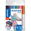 Marker Pilot Pintor assorteret fine Fun Mix 6stk/pak