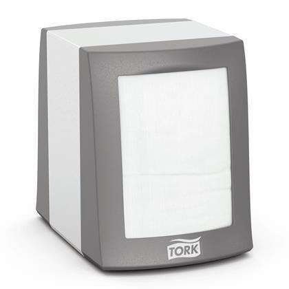 Dispenser Tork fastfold alu/plast t/servietter N2  1st/pkt