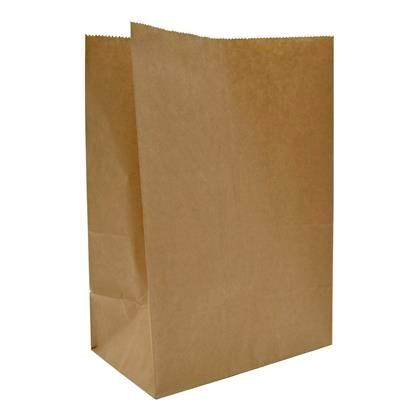 Papirspose 180/110x265mm brun 60g sos nr 3 500stk/pak