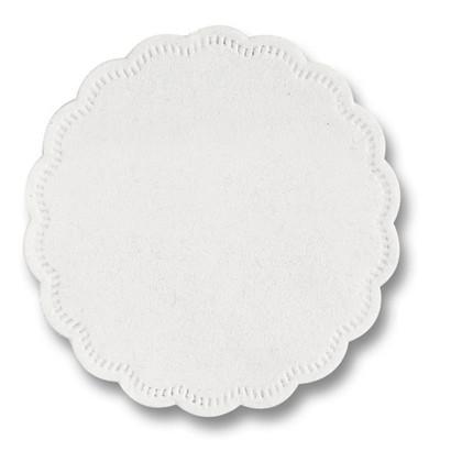 Doily 8-ply white 9cm E02109 250pce/crt