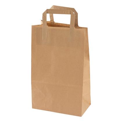 Papirsbærepose brun 11,5L 70g 220/125x350mm 250stk/pak