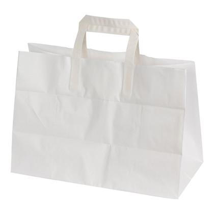 Papirsbærepose hvid 17L 80g 350/170x245mm 200stk/pak