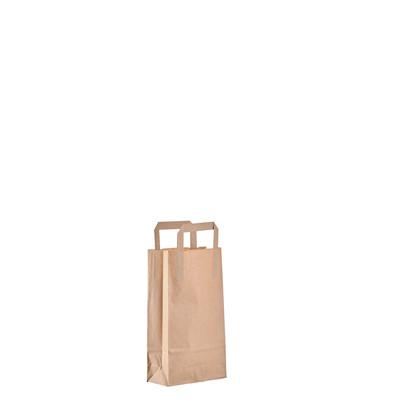 Papirsbærepose brun 4,9L 80g 175/75x293mm 500stk/pak