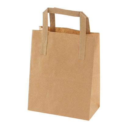 Papirsbærepose brun 4,9L 180/105x230mm 500stk/pak 70g