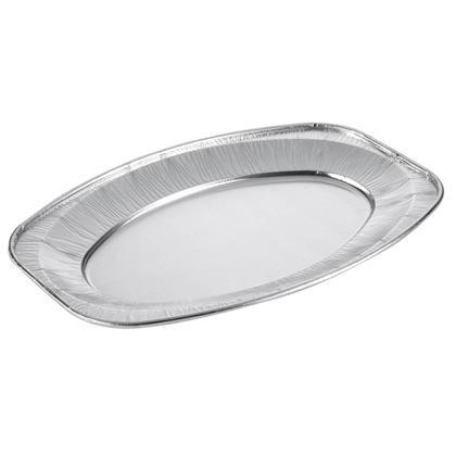 Cateringfad oval mellem 43x29x2,5cm glat 10stk/pak