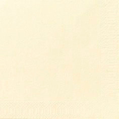 Servietter 3-lags Duni buttermilk 33cm 1000stk/kar