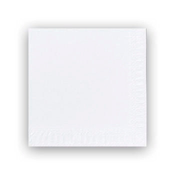Servietter 3-lags Duni hvid 24cm 2000stk/kar