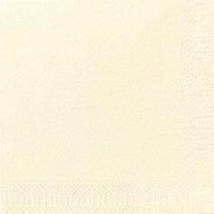 Servietter 3-lags Duni buttermilk 24cm 2000stk/kar