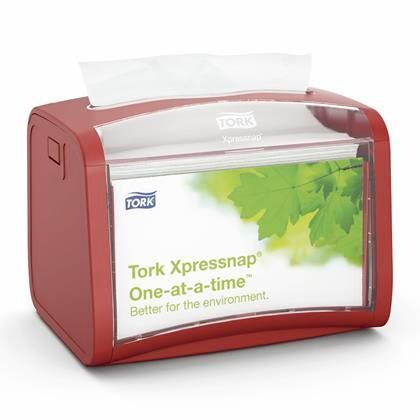 Dispenser Tork Bordservietter Interfoldet N4 rød 272612 1stk
