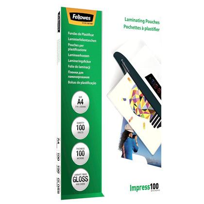 Lamineringslommer 100mic 216x303mm A4 100stk/pak