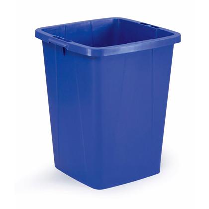 Affaldsspand DURABIN 90l firkantet blå