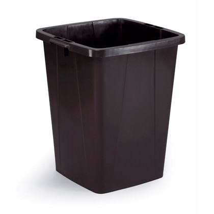 Affaldsspand DURABIN 90l firkantet genbrug sort
