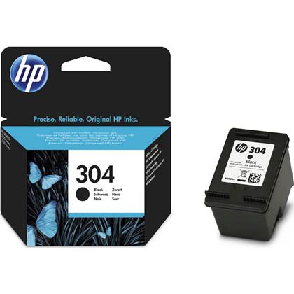 Blækpatron HP N9K06AE sort no. 304 Deskjet 3720/3730