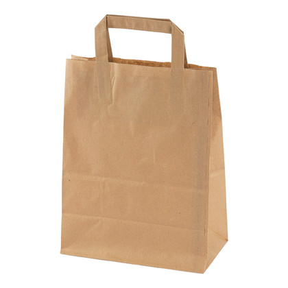 Papirsbærepose 8l brun 70g 220/125x290mm 250stk/pak