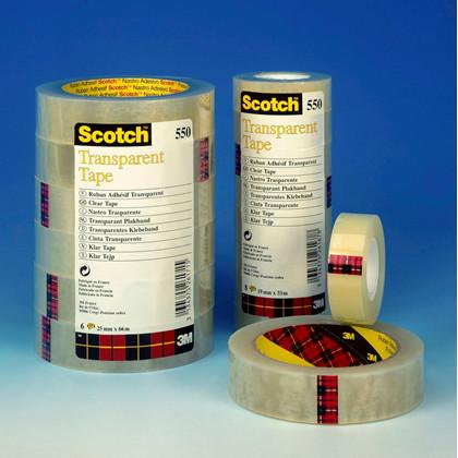 Tape Scotch kontortape 550 transparent 15mmx33m