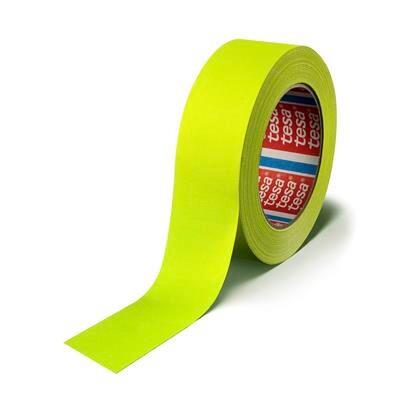 Tape lærred tesa gul 25mmx25m fluorescerende
