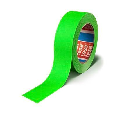 Tape lærred tesa grøn 25mmx25m fluorescerende