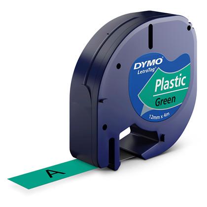 Labeltape DYMO LetraTAG 12mmx4m grøn plasttape