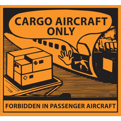 Fareetiket CAO Cargo Aircraft Only Sort/orange 110x120mm ADR 250st/rl