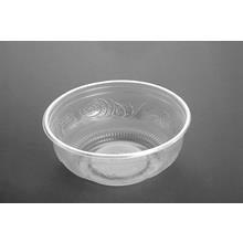 Plastbakke rund salatskål, Ø156mm PP klar 610ml 100stk/pak