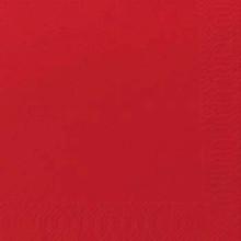 Servietter Duni 2-lags rød 24cm 2400stk/kar