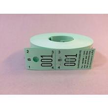Garderobenumre grøn 2-delt 48 2x500stk