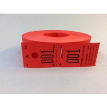 Garderobenumre rød 2-delt 48 2x500stk