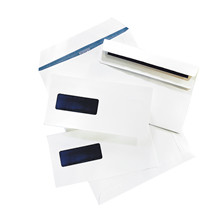 Kuverter m/rude hvid 110x220mm M65 13378 DS 100stk/pak
