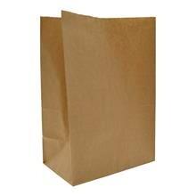 Papirspose u/håndtag 8l brun 220/125x290mm 400stk/pak