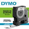 Labeltape DYMO D1 45803 S0720830 19mmx7m sort på hvid