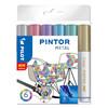 Marker Pilot Pintor assorteret medium Metal Mix 6stk/pak