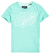 SUPERDRY T-SHIRT, G10104MT GRØN