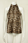 CO' COUTURE TOP, ANIMAL COGNAC