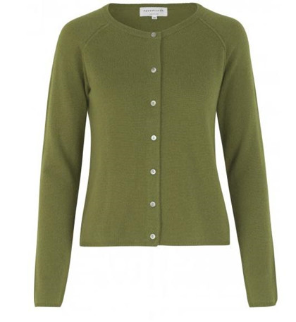 ROSEMUNDE CARDIGAN, 1421-622 LEAF GREEN