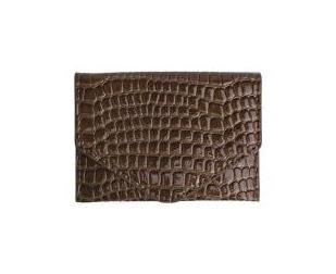 HVISK PUNG, WALLET CROCO BROWN