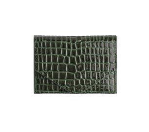 HVISK PUNG, WALLET CROCO JUNGLE GREEN