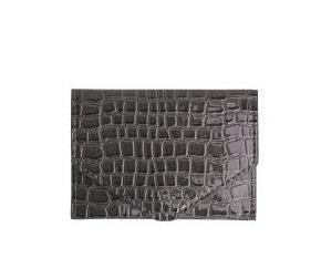 HVISK PUNG, WALLET CROCO DARK GREY