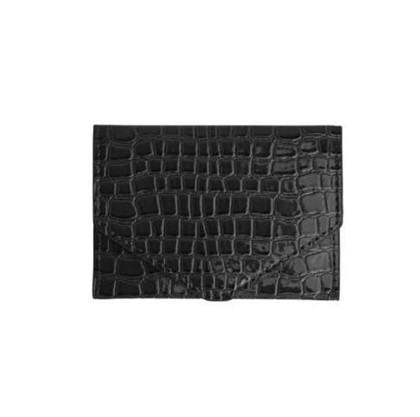 HVISK PUNG, WALLET CROCO BLACK