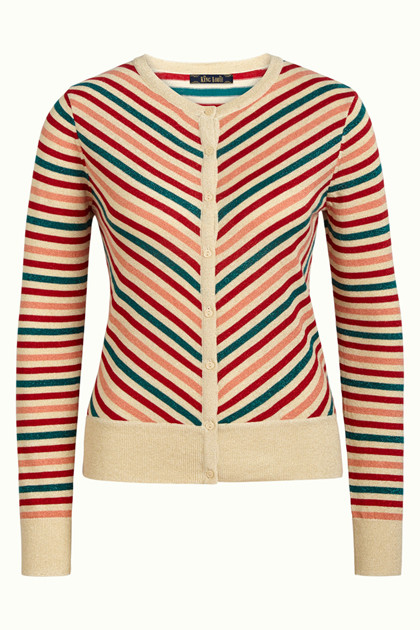 KING LOUIE CARDIGAN, CARDI CABANA CREAM STRIPE