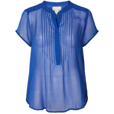 LOLLYS LAUNDRY BLUSE, HEATHER BLUE