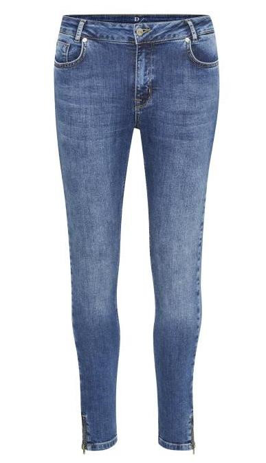 DENIM HUNTER JEANS, CELINA ZIP BLUE
