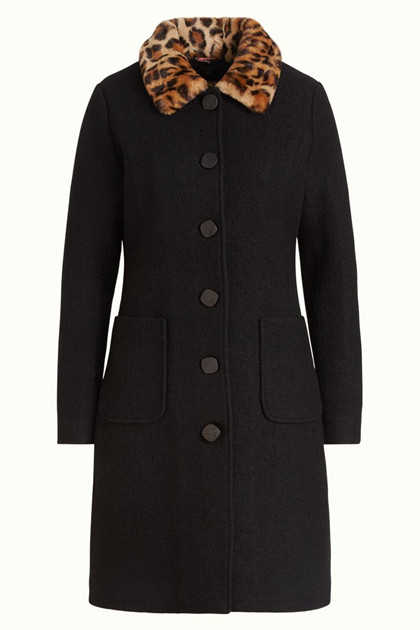 KING LOUIE FRAKKE, NATHALIE COAT KENNEDY BLACK