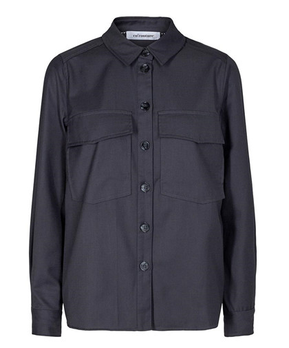 CO' COUTURE SKJORTE, BIOT UNIFORM DARK GREY