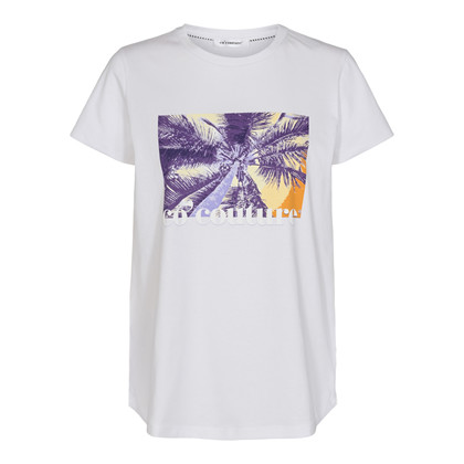 CO' COUTURE T-SHIRT, EDDIE PALM HVID