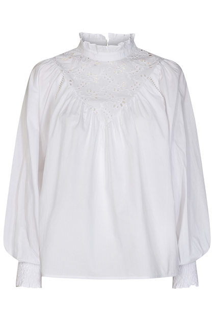 CO' COUTURE SKJORTE, BRIELA ANGLAISE WHITE