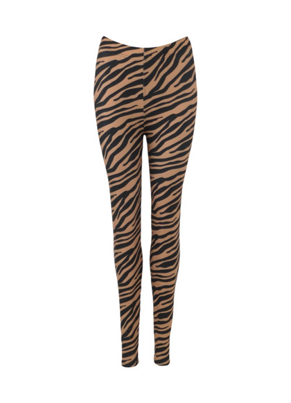 BLACK COLOUR LEGGINS, ZEN ZEBRA CAMEL